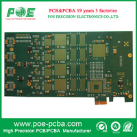 electronic circuit assembly aerospace device pcba, gold finger pcba board