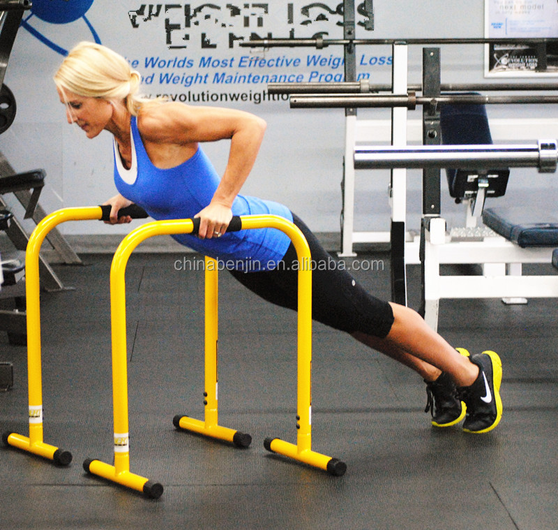 Heavy Duty Parallettes Functional Equalizer Bar Fitness Dip Bar Gymnastic Push-up Station