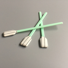 Disposable Lint Free Dacron Tip PCB Cleaning ESD Swab Stick