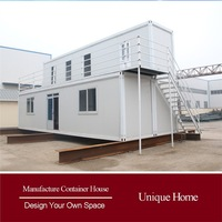 economical decorated led light modular house for sale modul container houses