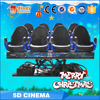 Attractive simulation ride 4D cinema equipment system, 4d movie theater seat simulator motion chair