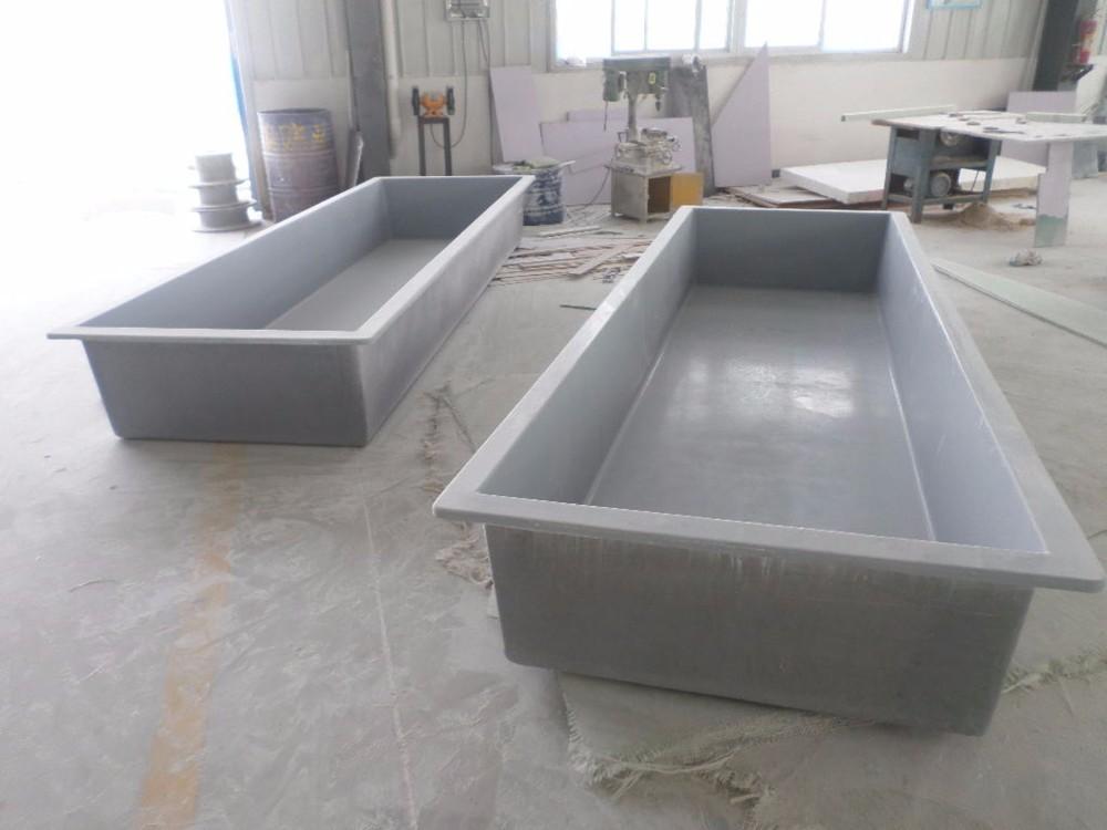 Large commercial rectangular grp aquaculture fiberglass for Aquaculture fish tanks