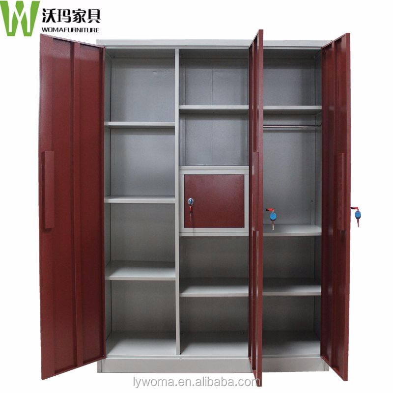 Wooden Cupboard Designs For Bedrooms Indian Homes best selling steel 3 door bedroom wardrobe designs / clothes
