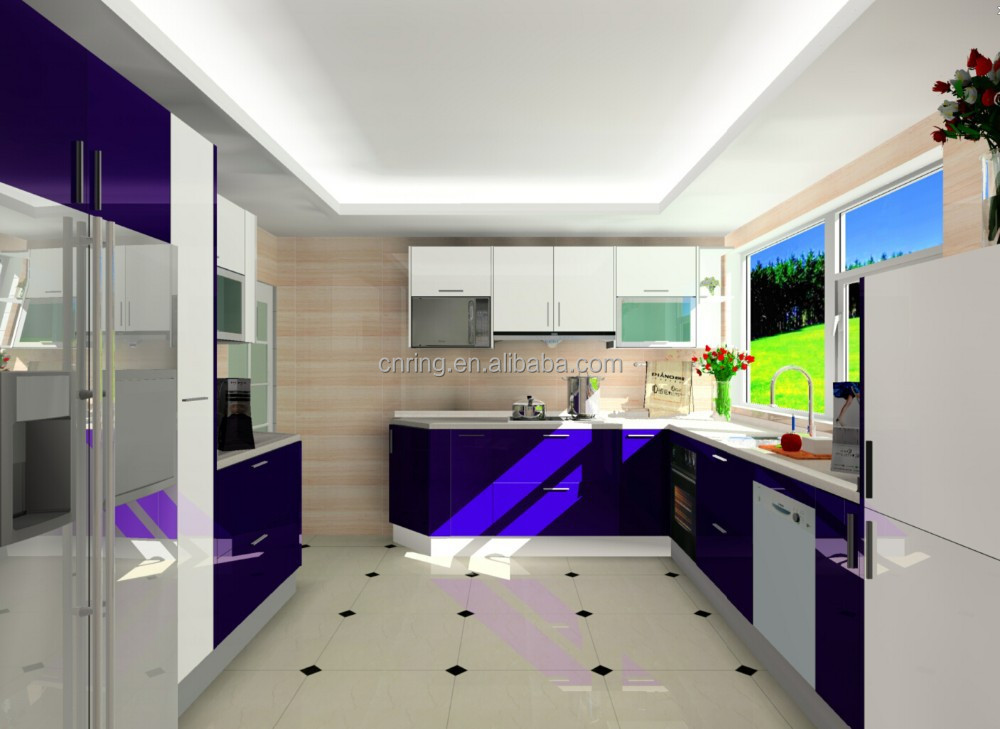2015newest unique style whole set customized apartment prefabricated kitchen cabinet furniture units