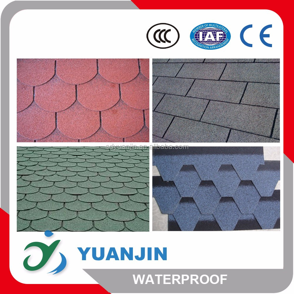 High quality laminated fiberglass asphalt roof tiles made in China
