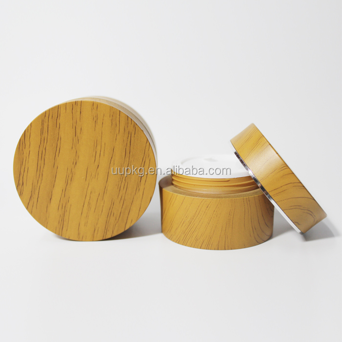 UU packaging 50ml bamboo cosmetic jar wood