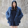 CX-G-A-197A 2017 New Fashion Design Women Winter Raccoon Fur Jacket