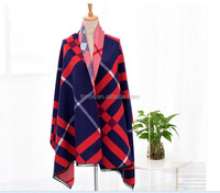 TOROS New design low MOQ korean fashion stole ladies small check shawl
