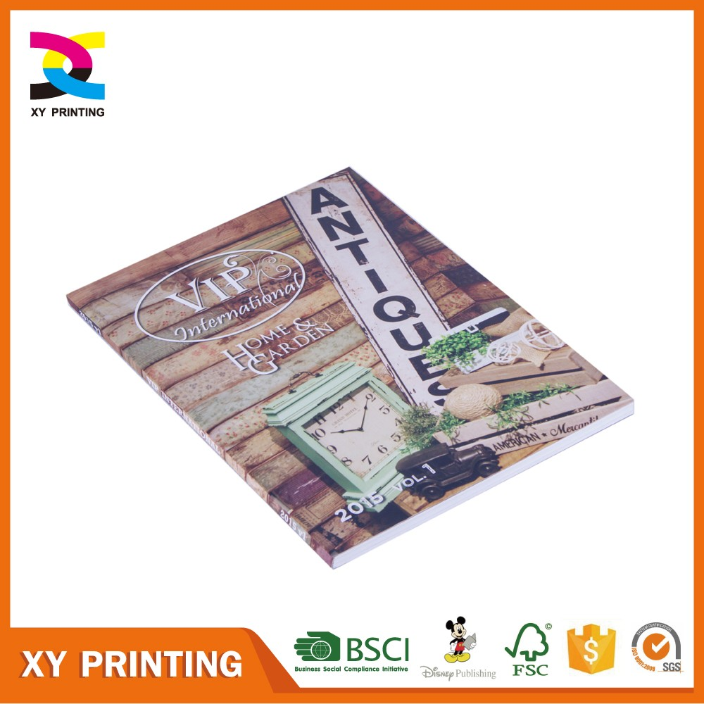2017 customized catalog from Guangzhou printing supplier
