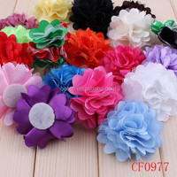 Hot Selling Fabric Flower For Headband, Girls Hair Accessories, Fancy Baby Shabby Flower