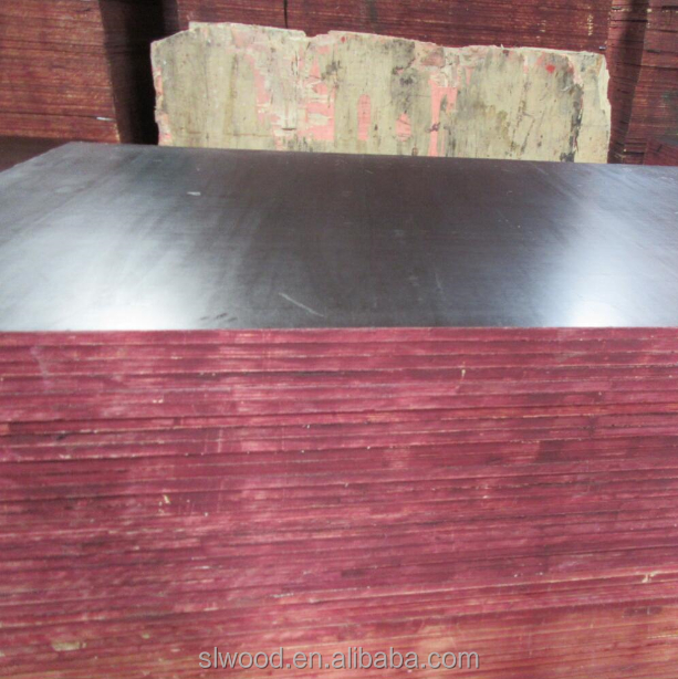 Black film faced plywood one/two times hot press core poplar/hardwood/finger joint