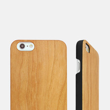 Wholesale 2017 hot selling high quality bamboo wood case for iphone6 6s plus celphone wood casing