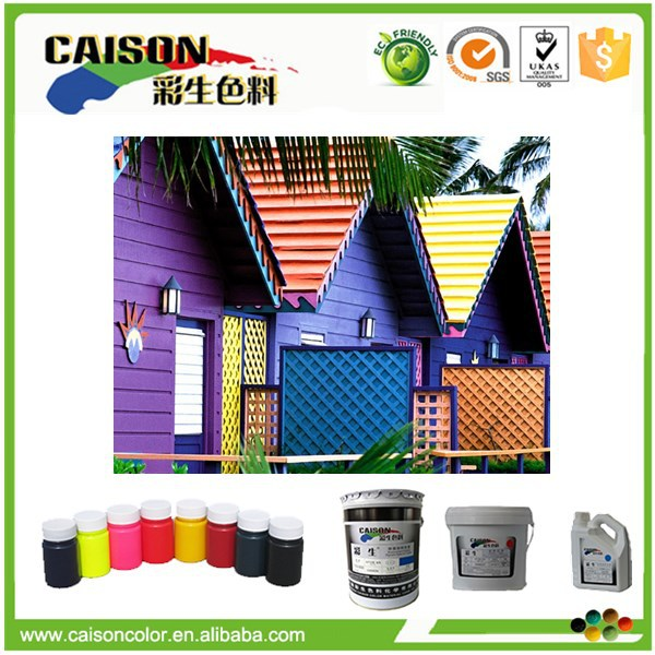 Water based pigment paste for liquid rubber coating