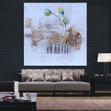 Orchid Oil Painting Canvas Art Handpainted Abstract Painting Flower Handmade Wall Decor Painting