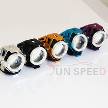 Big COB angel eye CCFL devil eyes motorcycle headlights with 12 monthes