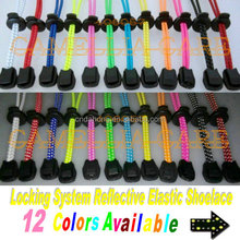 2.8mm 75pairs a lot reflective elastic no tie lock shoelaces