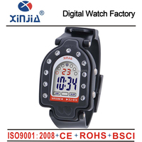 2015 colorful 30m water resistant digital wrist watch with fake diamond design
