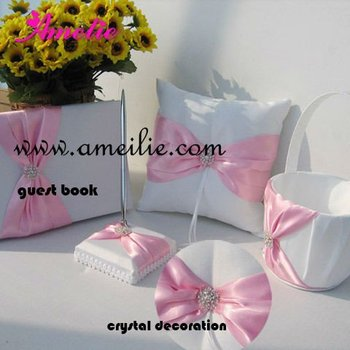 Pink Color Decorated Wedding Accessories Sets