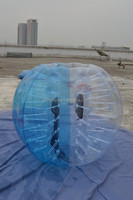 Dia1.2m/1.5m bubble ball for football, inflatable ball suit, bubble football W1023