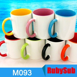 11oz Products for Sublimation Blanks Coated Inner and Handle Color Cups Mugs for Sublimation