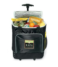 Trolley Type and 600D Material Folding Trolley Cooler Bag