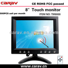 8 zoll diagonal marke neue panel TFT auto vga lcd computer touch screen panel monitore/Touch-display, buil-in lautsprecher