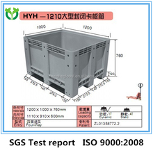 Plastic pallet return with wheels in china for sale