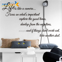 ZOOYOO life is like a camera wall decorations high quality wallpapers popular bathroom decors art wall decoration (8205)