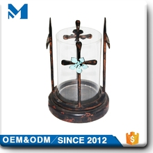 Cross Metal Outdoor Luxury Glass Candle Holder