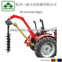 Tractor 3point Pto Post hole digger with different size drills