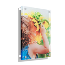 High quality factory custom clear acrylic magnetic photo frames desktop frame wholesale