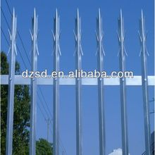 decorative metal palisade fence