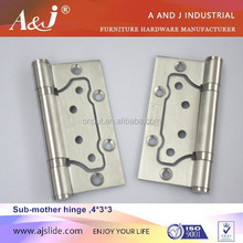 Wholesale 4 Ball bearing toilet partition self closing door hinge for folding door