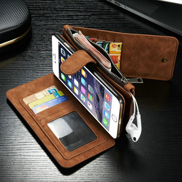 "Fashion Wallet Leather Case for iPhone 6s 5.5"", for iPhone 6s Plus Accessary Case, CaseMe Cover for iPhone 6s Plus"