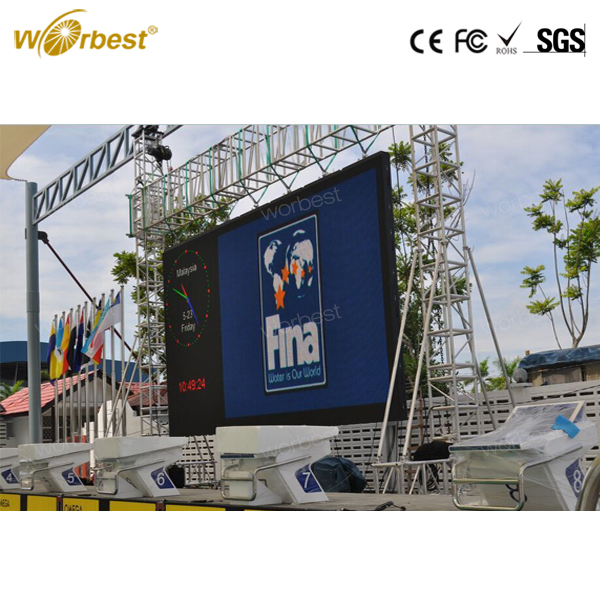 Large led tv advertising screen P4.81 LED panel screen outdoor rental tv show led display