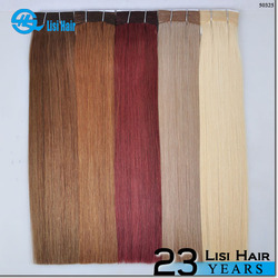 YBY 100% Remy Double Drawn Brazilian Human Hair Extensions weft sealer for hair extensions
