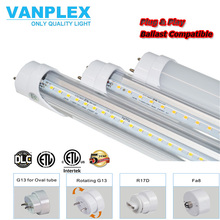 4ft T8 led fluorescent tube, 18w led circular fluorescent tube, ballast compatible led tube light