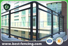 Flat Top Plexiglass Metal Deck Railing for safety use
