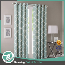 Wholesale latest curtain designs print window curtain with bottom weight