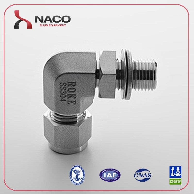 stainless tube fitting adjustable elbow compression fittings