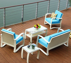 Promotional cheap outdoor rattan sofa sets garden wicker sofa