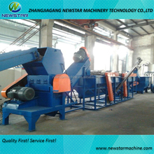 Recycled waste plastic crushing drying pp pe film washing line