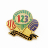 custom cheap with printing and epoxy metal balloon lapel pins
