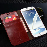 Musubo Hot Sale Wallet Case For Samsung Note 2 Flip Leather Phone Case