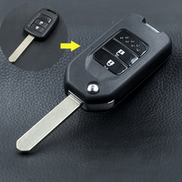 Modify Remote Key Shell For Honda FIT VEZEL CITY CIVIC 2Buttons Flip Auto Key Shell Replacement