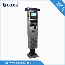 intelligent car parking meter machine/cash payment machine
