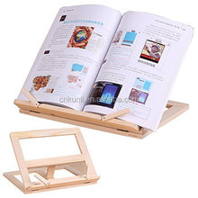 Wood Bookstand Laptop IPad Book Stand Holder/Document Stand Holder Reading Stand With 4 Adjustable Positions