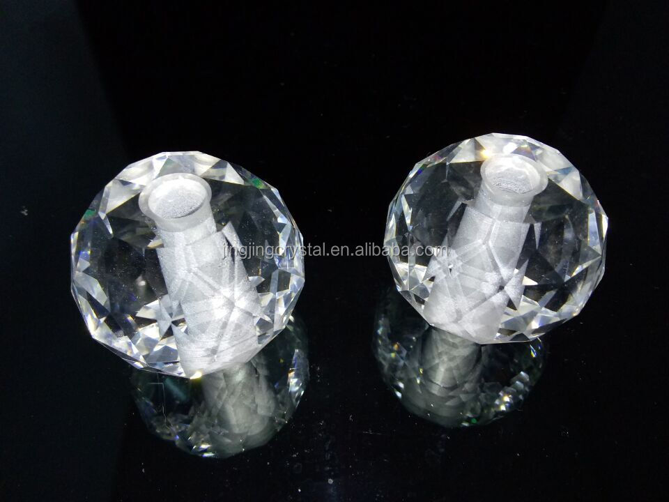Clear chandlier ball with hole Crystal Glass ball