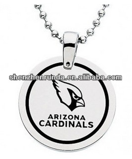 High Quality Arizona Cardinals NFL Disc Pendant Necklace China supplier
