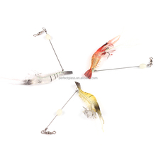Shrimp Soft Lure 9cm/6g Fishing Artificial Bait With Glow Hook Swivels Anzois Para Pesca Sabiki Rigs Fishing Lure